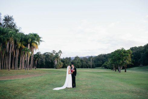 Bride and Groom at The Acre wedding venue