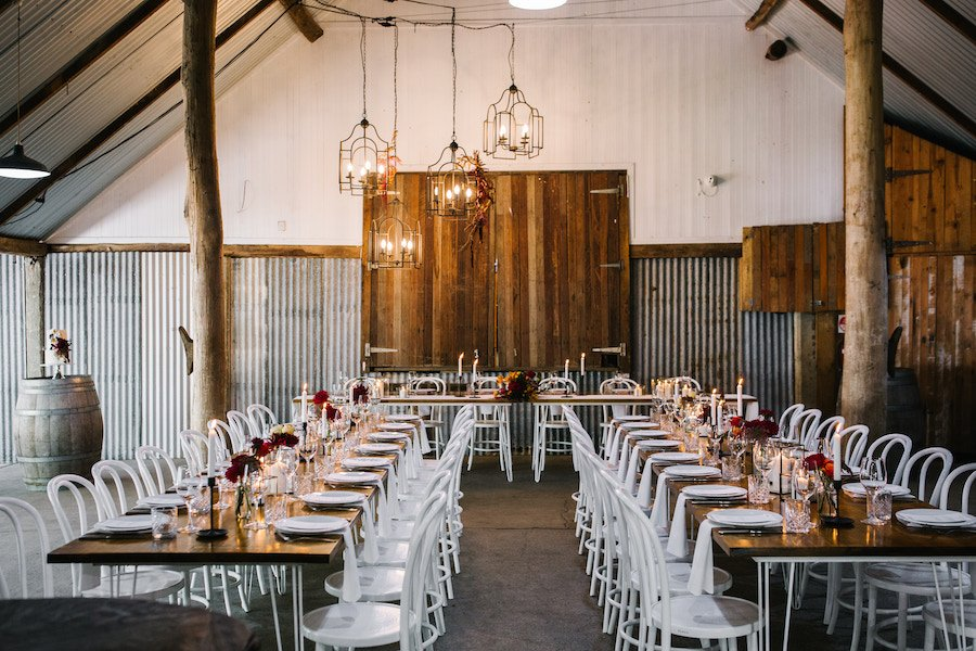 Wedding barn reception