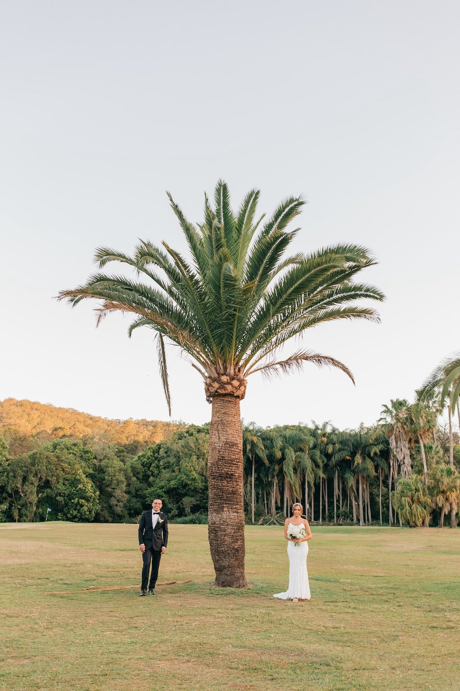 bride and groom at gold coast wedding venue the acre during covid restrictions